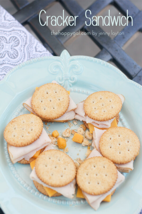 Cracker Sandwich Healthy Summer Snacks