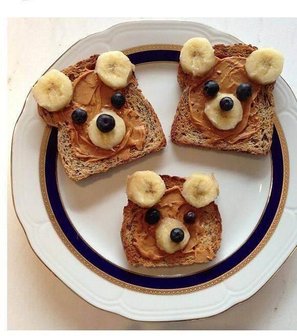 Teddy Bear Toast Healthy Summer Snacks