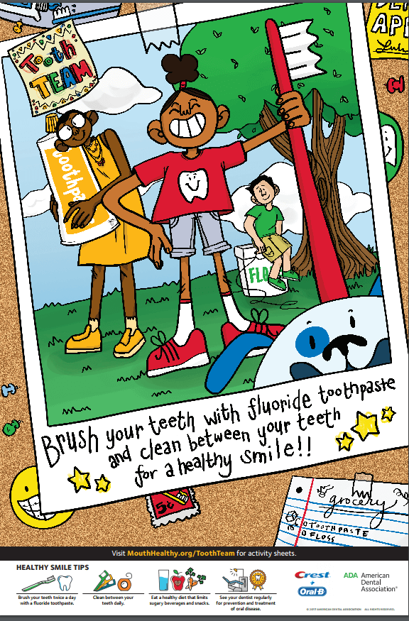 Poster for Dental Health Month